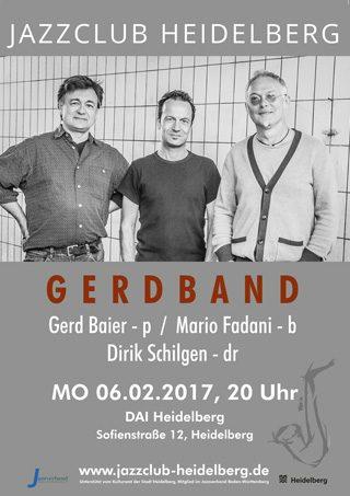 Gerdband - Plakat Jazzclub Heidelberg