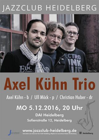 Axel Kühn Trio Plakat Jazzclub Heidelberg