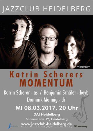 Katrin Scherer Momentum - Plakat Jazzclub Heidelberg