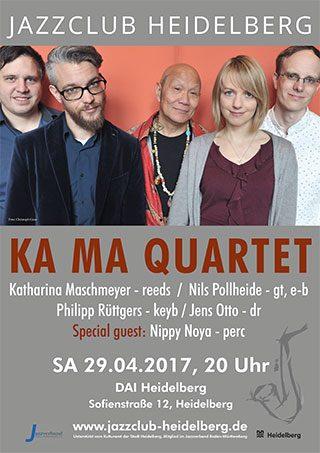 KA MA Quartett - Katharina Maschmeyer beim Jazzclub Heidelberg Plakat