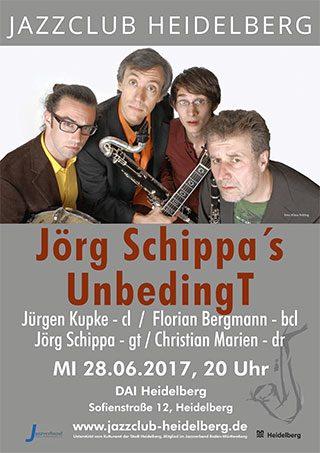 Jörg Schippa's UnbedingT beim Jazzclub Heidelberg Plakat
