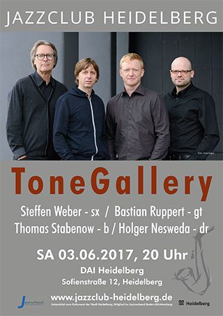 ToneGallery beim Jazzclub Heidelberg Plakat